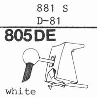 STANTON 881 S, D-81 Stylus, DE