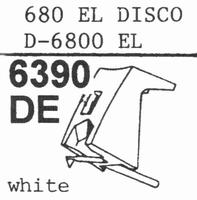 STANTON D-6800 EL Stylus, DE<br />Price per piece
