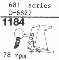 STANTON D-6827 78-RPM ORIGINAL Stylus