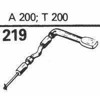 TELEFUNKEN A-200, T-200 Stylus, sapphire normal (78rpm) + sa