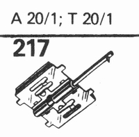 TELEFUNKEN A-20-1, T-20-1 Stylus, diamond, stereo