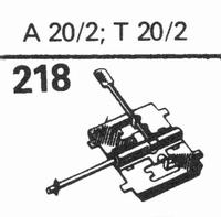 TELEFUNKEN A-20-2, T-20-2 Stylus, sapphire normal (78rpm) +