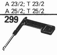 TELEFUNKEN A-23-2, A-25-2 Stylus, sapphire stereo + diamond