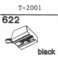 TENOREL T-2001 D - BLACK PLAST. Stylus, diamond, stereo-BLA