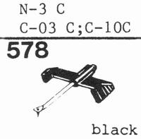 TOSHIBA N-3 C, Stylus, diamond, stereo
