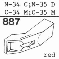 TOSHIBA N-34 C, N-68 Stylus, diamond, stereo