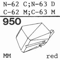 TOSHIBA N-62 C Stylus, diamond, stereo