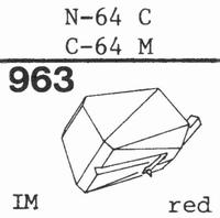 TOSHIBA N-64 C Stylus, diamond, stereo