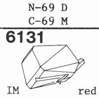 TOSHIBA N-69 Stylus, diamond, stereo