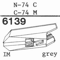 TOSHIBA N-74 C Stylus, diamond, stereo