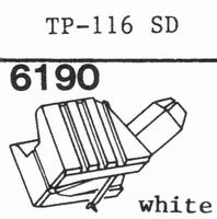 TOSHIBA TP-116 SD Stylus, diamond, stereo