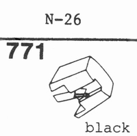 TRIO/KENWOOD N-26 BLACK Stylus, diamond, stereo