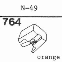 TRIO/KENWOOD N-49 ORANGE Stylus, diamond, stereo