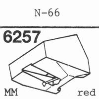 TRIO/KENWOOD N-66 RED MM-TYPE Stylus, diamond, stereo