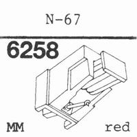 TRIO/KENWOOD N-67 RED Stylus, diamond, stereo
