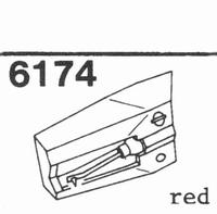 U.P.O.'S. CZ-800-3 RED CER Stylus, diamond, stereo