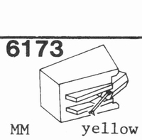U.P.O.'S. MG-2100 YELLOW MM Stylus, diamond, stereo