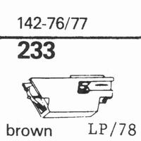 ZENITH 142-76/77 Stylus, sapphire normal (78rpm) + sapphire