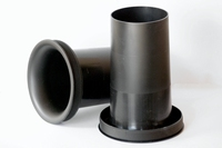 IT BR/HP100, Basreflex pipe Ø100>95mm x 200mm, black with fl