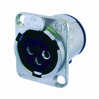 NEUTRIK NC-3FLD1, XLR inlet, 3-pole, female