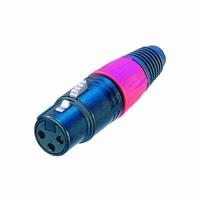 NEUTRIK NC-3FXB, XLR connector, 3-pole, female<br />Price per piece
