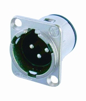 NEUTRIK NC-3MLD1, XLR inlet, 3-pole, male
