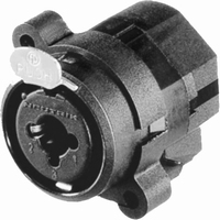 NEUTRIK NCJ-5FIS, combo inlet, 6,3mm jack/3-polexLR female
