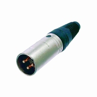 NEUTRIK XLR connector, 3-pole, male<br />Price per piece