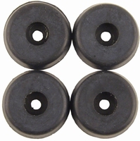 Rubber foot, Ø25x7mm, set of 20pc.