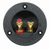 IT T75/MS/AU, Binding post, goldplated connectors, black