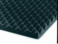 TYROTEX/20/1, convoluted open foam mat,  20kg/m³, 0,5m²<br />Price per sheet