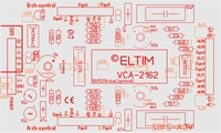ELTIM VCA-2162, 2-channel VCA/buffer DIY kit<br />Price per piece