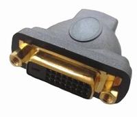 KACSA  AA-705G, DVI female - HDMI female Adapter, 24K gold p