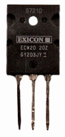 EXICON ECW20N20, 16A/200V, 250W Mosfet, N-channel, TO264