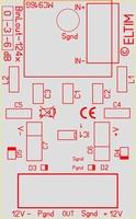 ELTIM Bin/Lout-1240, balanced to line converter module, 0dB<br />Price per piece
