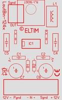 ELTIM LoutBin-124x, balanced to line converter module
