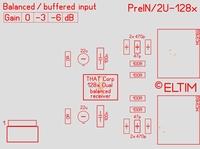 ELTIM PreIN 2U-128x, XLR balanced IN buffer module, 2U