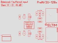 ELTIM PreIN 2U-128x,xLR balanced IN buffer module, 2U