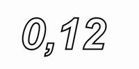 IT LU32/012/071, aircoil, 0,12mH, OFC Ø0,71mm, R=0,28