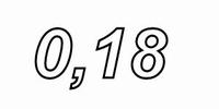IT LU32/018/071, aircoil, 0,18mH, OFC Ø0,71mm, R=0,35