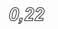 IT LU32/022/071, aircoil, 0,22mH, OFC Ø0,71mm, R=0,39