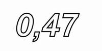 IT TRI62/047/0.50, Tritec aircoil, 0,47mH, OFC Ø0,5, R=0,24<br />Price per piece