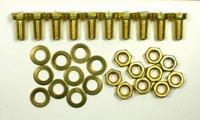 IT BEF/001, Brass mounting bolts/nuts/rings for mounting. 10