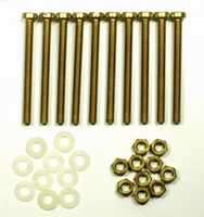 Brass mounting bolts/nuts/rings for mounting of coils<br />Price per 10 pieces