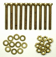 IT BEF/002, Brass mounting bolts/nuts/rings. 10pc