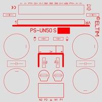 ELTIM PS-UN50S HQ LP, Power Supply +/-50V, 6A max.