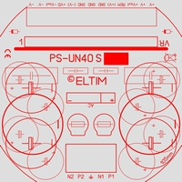 ELTIM PS-UN40S, Symmetrical Power Supply KIT,  ±6A max.