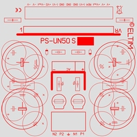 ELTIM PS-UN50S, Symmetrical Power Supply KIT, ±8A max.