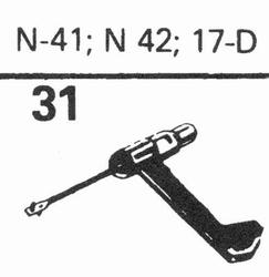 ASTATIC N-41, N-42, 17-D Stylus, sapphire normal (78rpm) + s