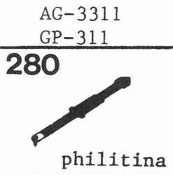 PHILIPS GP-311 PHILITINA, stylus, sapphire, stereo
